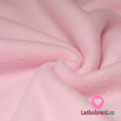 Polar fleece růžová baby (světlejší) antipilling