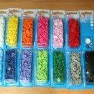Patentky plastové Color snaps šeříkové