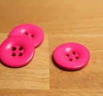 Knoflík hladký lesklý růžový do neonova 24mm