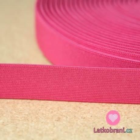 Pruženka barevná růžová malinová 25mm