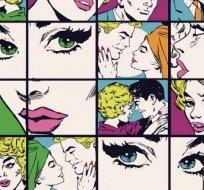 Úplet potisk komiks neonový Monroe