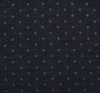 Prošívaný úplet tmavě modrá s výraznou růžovou