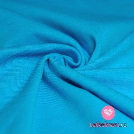 Úplet jednobarevný středně modrá s nádechem do tyrkysové 160 g