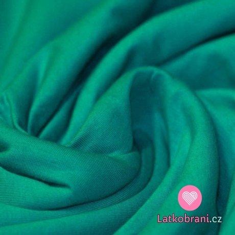 Jednobarevný úplet smaragdový 240 g