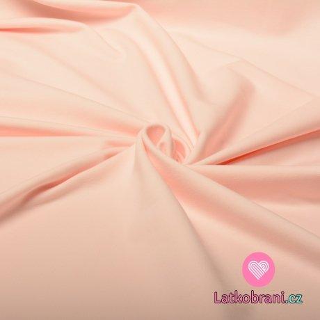 Jednobarevná teplákovina pastelová růžová 240 g