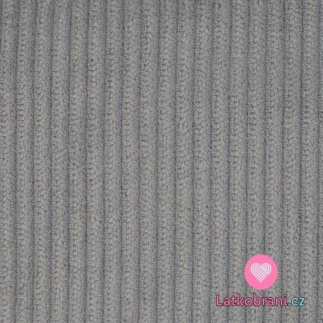 Elastický manšestr šedý