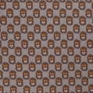 Pletený žakár hlavičky lvíčků na béžovém melé