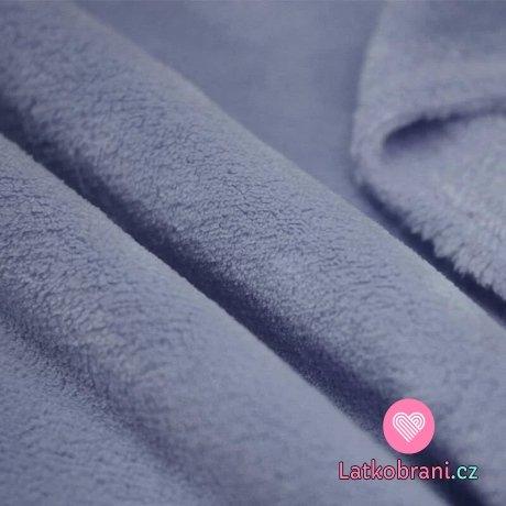 Coral fleece jeansově modrý