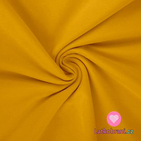 Teplákovina jednobarevná žluté mango
