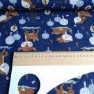 Softshell potisk koloušek mezi stromečky na námořnicky modré