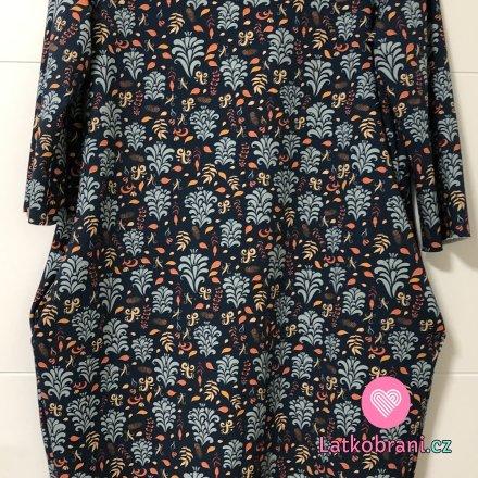 Teplákové šaty s kapsami