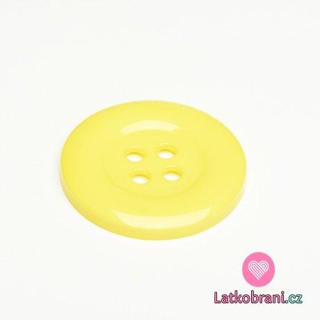Knoflík mega velký žlutý