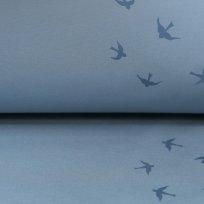 Magický softshell vlaštovky na ledově modré s fleecem