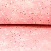 Teplákovina zmrzlé zimní hvězdy růžové