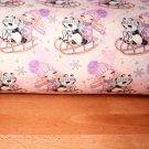 Teplákovina holčička s pandou na sáňkách na fialkové
