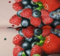 Úplet bordura lesní ovoce na růžové