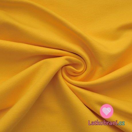 Jednobarevná teplákovina žlutá žloutková 290g