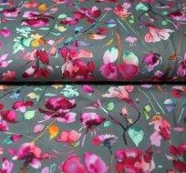 Úplet fialkové květy na šedé