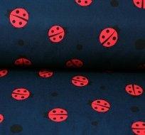 Softshell červené berušky na tmavě modré