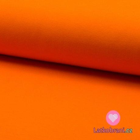Teplákovina počesaná oranžová