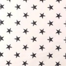 Teplákovina potisk tmavě modré oprané hvězdy na bílé