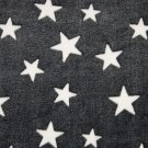Wellsoft fleece bílé hvězdy na černé
