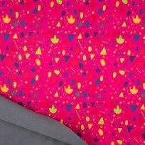Softshell barevné konfety na fuchsiové