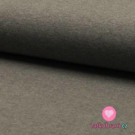 Jednobarevný úplet středně šedé melé 220 g