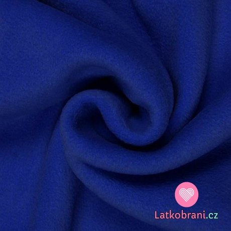 Polar fleece antipiling kobaltově modrý