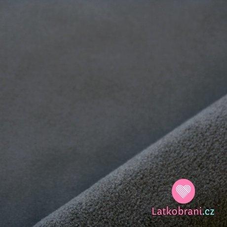 Softshell šedý tmavý s fleecem