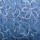 Džínovina bordura skládané květy