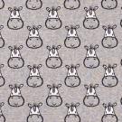 Pletený žakár hlavičky zebry na šedém melé