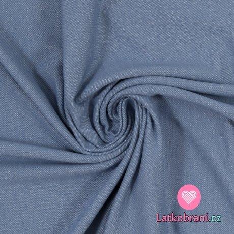 Teplákovina jeans efekt světle modrá