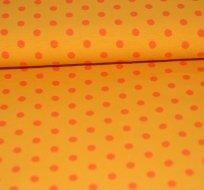Úplet puntíky oranžové na žluté (střední)