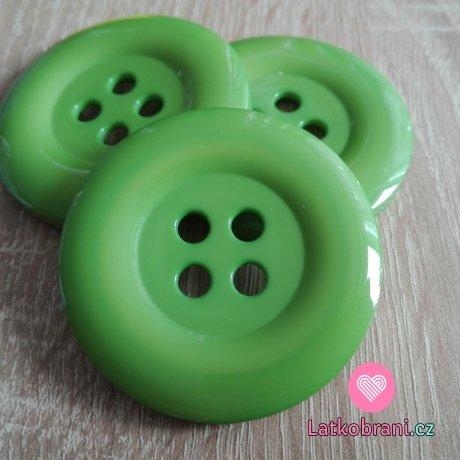 Knoflík mega velký zelený