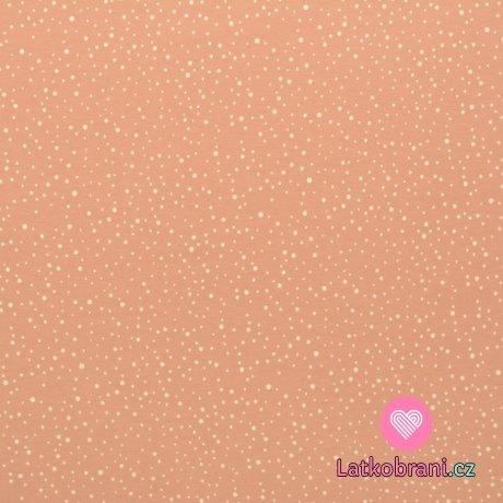 Úplet potisk drobné puntíčky na růžové