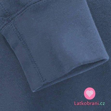 Náplet hladký tmavě modrý jeans