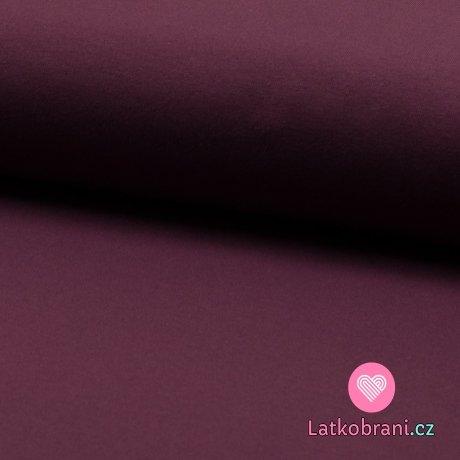 Jednobarevná teplákovina fialovo-bordová