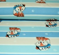 Teplákovina liška boy na modrých proužkách