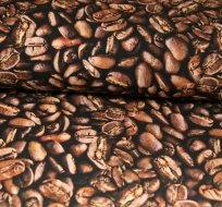 Teplákovina kávová zrnka