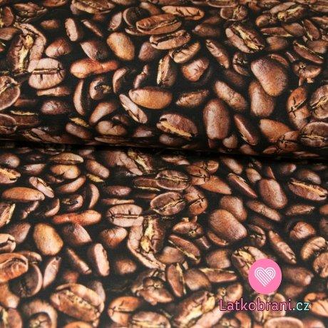 Teplákovina potisk kávová zrnka