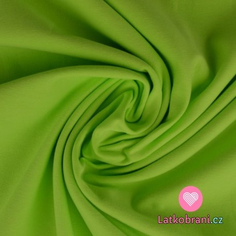 Úplet jednobarevný limetkově zelená