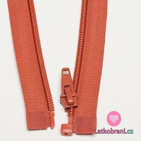 Zip spirálový dělitelný cihlový 35cm