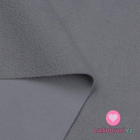 Softshell šedý světlý s fleecem