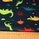Softshell barevní dinosauři na tmavě modré