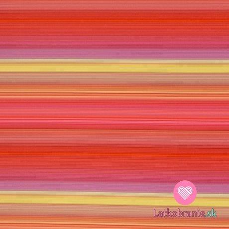 Softshell potisk růžové proužky s fleecem
