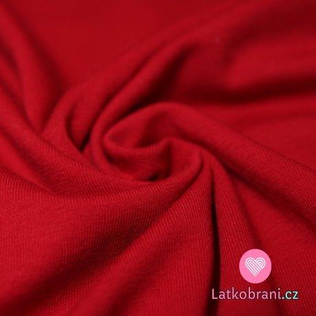 Jednobarevný úplet červený tmavý 200g