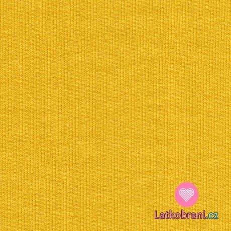 Náplet hladký šafránově žlutý