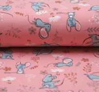 Úplet myšky na růžové