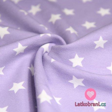 Úplet hvězdy bílé na fialkovém podkladu (stejné)